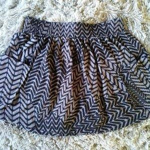 Forever 21 | Front Pockets Printed Skater Skirt